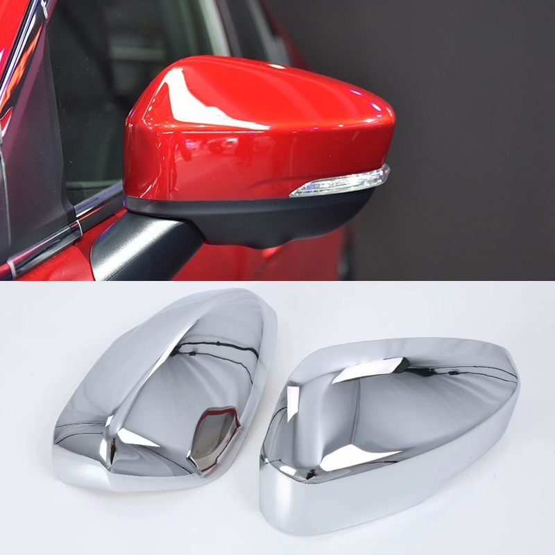 Replacement Covers Silver NO LOGO Safe 2x Chrome Car ABS Side Rearview Mirror Cap Wing Mirror Cover Trim For Mercedes Benz Ml Gl 2013-2016 Gle Gls Class 2015-2017 Color : Silver