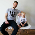 2016 New Summer  Me MINIME  Printed Cotton T-shirt Father And Son Shirt  Family Look  Family Matching Clothes Ffamily Clothing