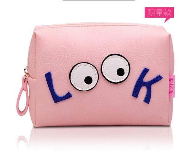 2017 TOP Large Capacity Travel Cosmetic Bag Cartoon Cute Make up Bag Portable Pouch Sac a Main Brand Make Up Pouch