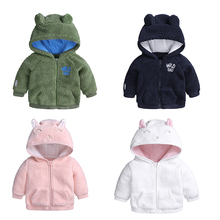 Infant Baby Boys Girls Adorable LambsHooded Jacket Coat  Ears Hat tops Autumn little children clothing warm cute kid clothes цены онлайн