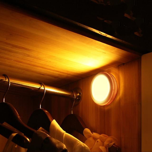 Levou sensor de luz da noite de economia de energia com motion sensor luz de armário do corredor lâmpada lâmpadas noite lampara infantil crianças luzes da sala