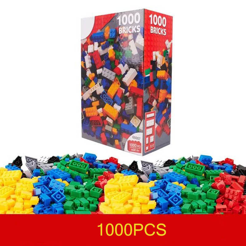 DIY Building Blocks 1000pcs Creative Bricks Toys for Children Educational Bricks brinquedos Free Shipping Compatible with legoe