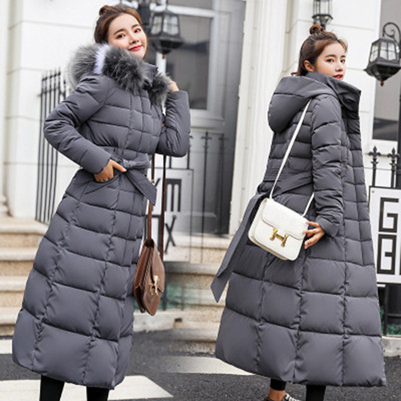 Feminino Parka Women Female Plus black Size 3xl army caramel white Long Gray Hooded Thicken Green Collar Winter Ladies Warm Jacket Fur Outerwear 2018 Colour Coat A5FTxZwqq