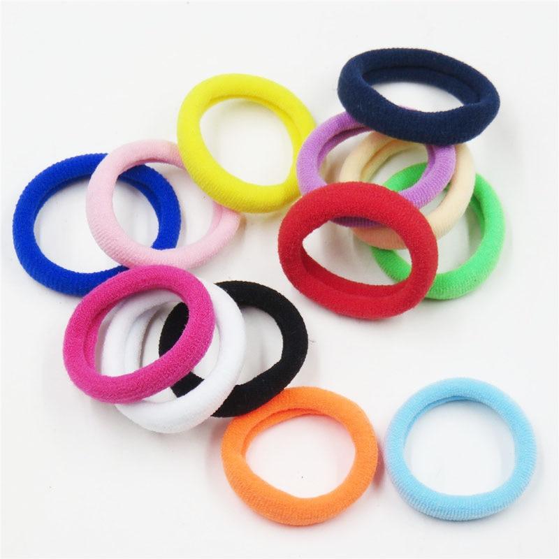 10 шт./лот цветное кольцо для волос Новинка эластичные резинки для волос для девочек богемные резинки модные детские аксессуары для волос для женщин