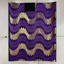 Purple Blue&Silver African Sego Gele Headtie Head Tie,2 pcs Set Nigeria Wedding Headwear LXL-29-1