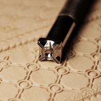 Leathercraft Ferramenta Diy Handmade Tool For Leather Carving And Printing Concentric geometric pattern stamp