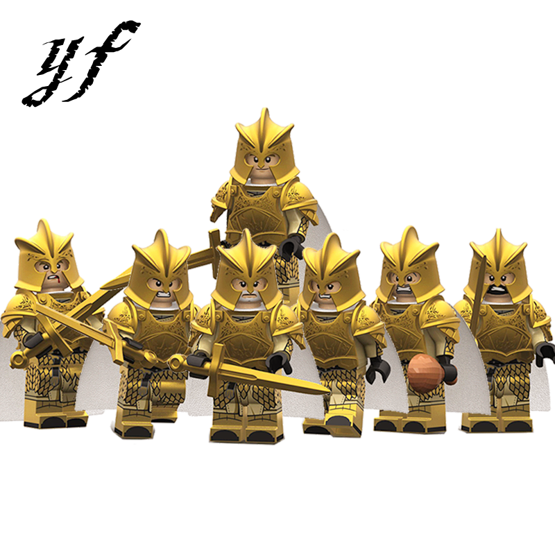 <font><b>Legoed</b></font> Game Of Thrones <font><b>Minifigured</b></font> Medieval <font><b>Castle</b></font> Knight Soldiers Mandon Lannister Selmy Building Blocks Figures Children Toys image