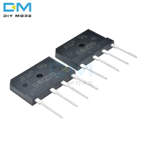 5PCS lot GBJ2510 1000V 25A Diode Bridge Rectifier Single Phase Bridge Rectifier High Frequency Diy Electronic GBJ-2510