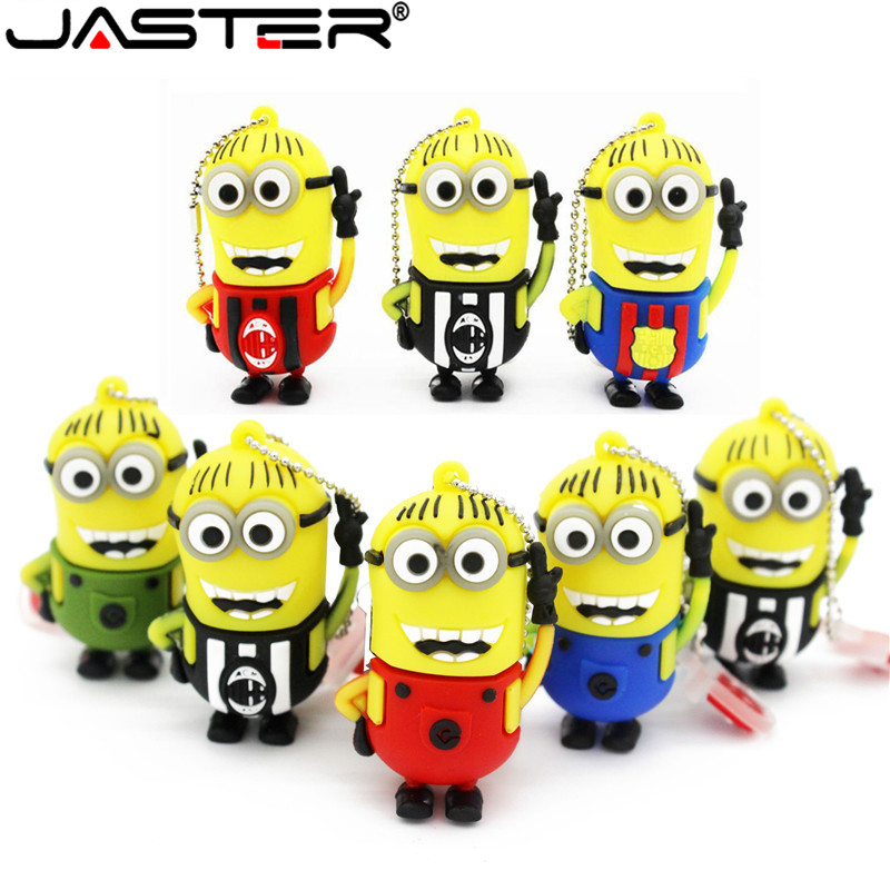JASTER  The New Cute Bugs Bunny  USB Flash Drive USB 2.0 Pen Drive Minions Memory Stick Pendrive 4GB 8GB 16GB 32GB 64GB Gift