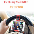 Universal GPS Auto Car Steering Wheel Mount Bracket Original Phone Parts Holder For iphone 6 Samsung Galaxy S5 S4 S3