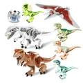 10 Unids/lote Mundo Jurásico Dinosaurio Jurassic Park Figuras Ladrillos Figuras Modelos y Juguetes de Construcción para Niños Lepin Compatible