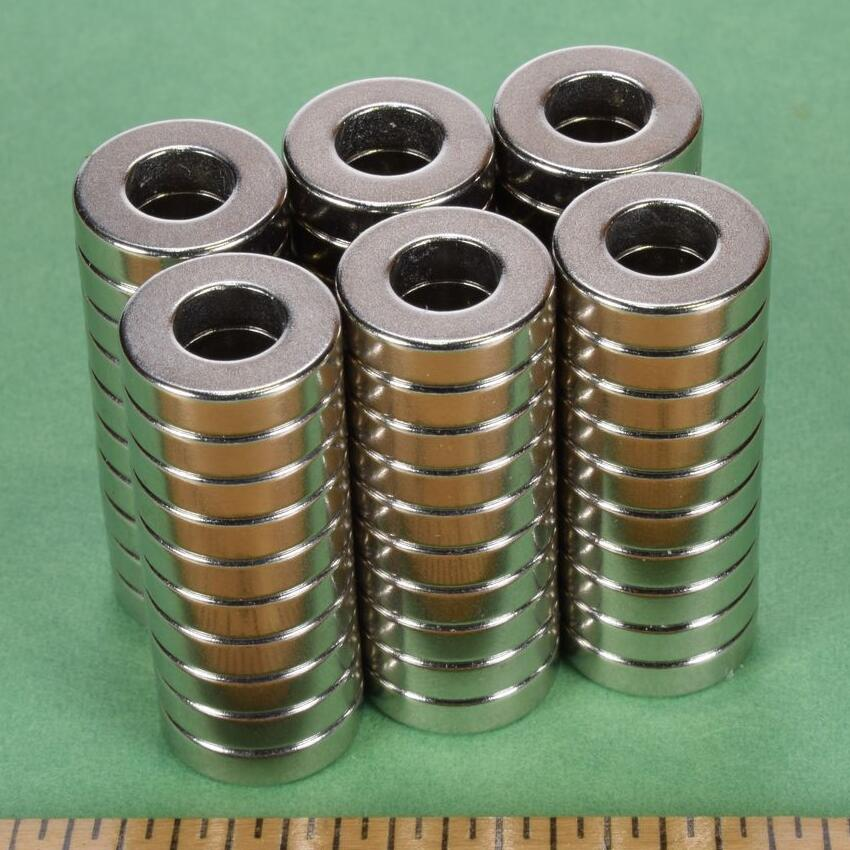 NdFeB Magnet Ring R842 Dia. 1/2x1/4x1/8 12.7x6.35x3.18mm thick Strong Neodymium Permanent Magnets Rare Earth Magnets strong 1 2 1 5 1 8