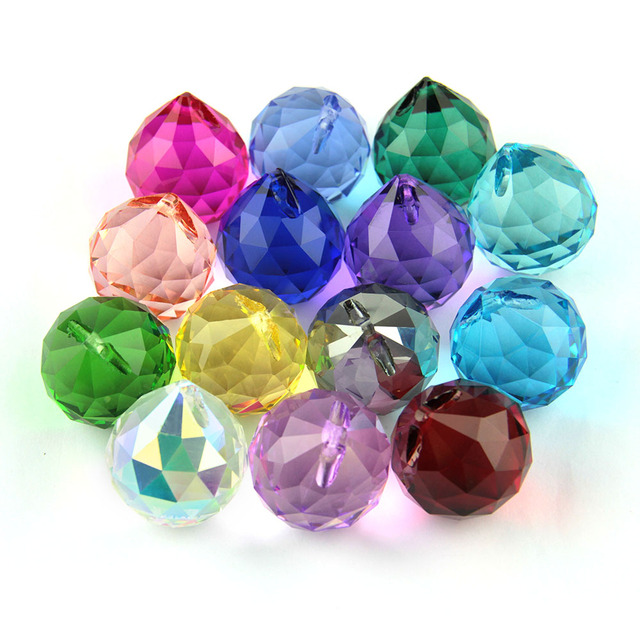 10pcs/lot mixed color 30MM   Crystal lighting ball for wedding&ball chandelier garland strand free shipping