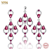 TZ0067 NEW 2013 Free P P 925 Bridal Jewelry Set 925 Sterling Silver Micro Pave Pink