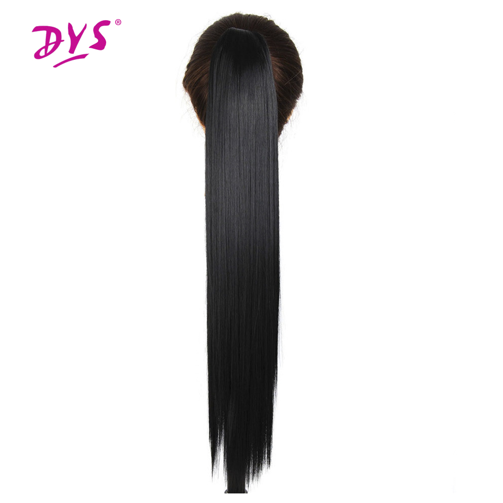 Deyngs Long Straight Claw in Ponytail Hair 60CM False Pony Tail Naturally Synthetic Hairpiece For Women High Temperature Fiber