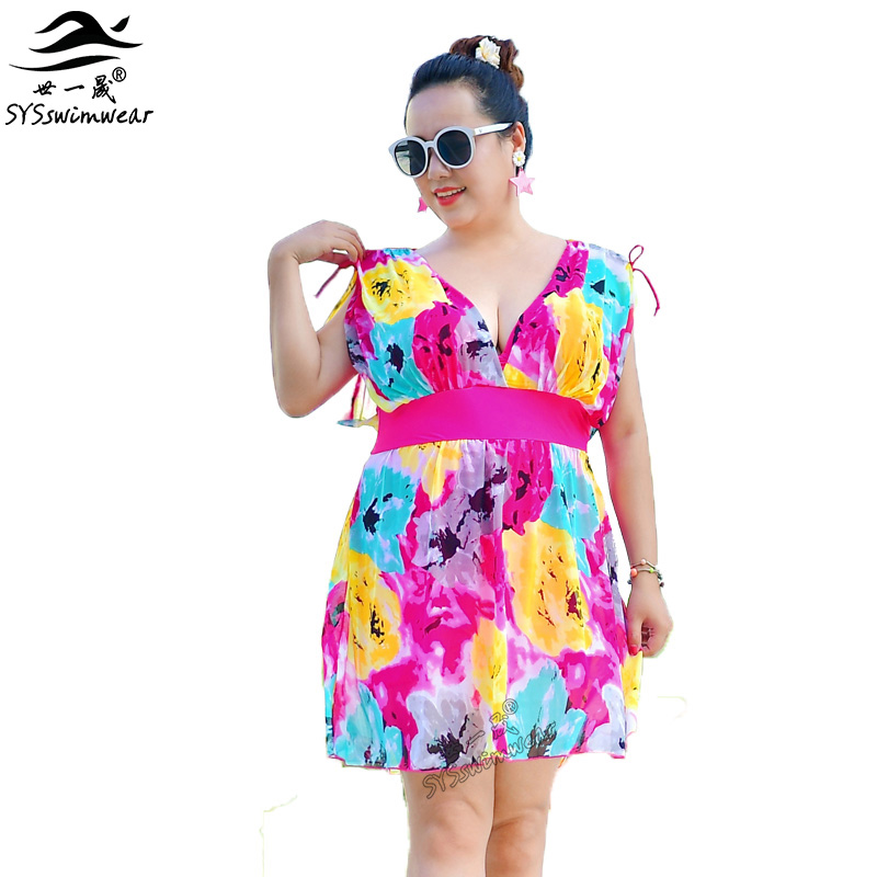 New Summer Beach Top Quality Plus Size Sexy Women One Piece Swimwear Floral Deep-V & Backless Swimsuit Hot Pool Bathing Suit fashionable plus size floral backless one piece swimsuit for women