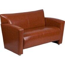 HERCULES Majesty Series Cognac Leather Loveseat [222-2-CG-GG]