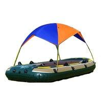 Orange Blue Nylon Sunshade Tent Kayak Folding Awning Camping Hanging Bed for Hiking Ferry for Shade Cloth Travel