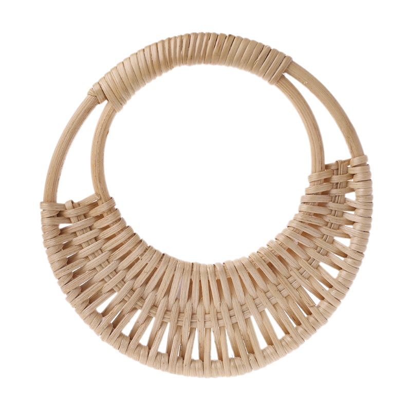 Fashion 1 Pc Wooden Rattan Bag Handle Replacement For DIY Craft Making Purse Handbag Tote Bag Accessories New