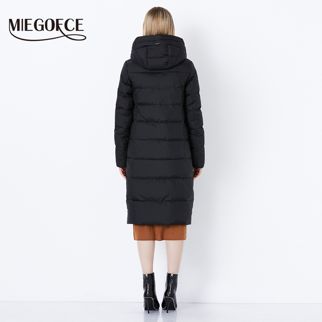 MIEGOFCE 2018 Winter New Collection Bio Fluff Hooded Women's Winter Coat Parkas European Style Warm Stylish Winter Jacket