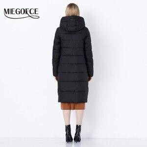 Image 4 - MIEGOFCE 2019 hiver nouvelle Collection Bio peluches à capuche femmes manteau dhiver Parka Style européen chaud élégant femmes veste dhiver