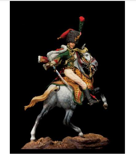 1 32 54MM ancient Guard Hunter soldier 54mm WITH BASE Resin figure Model kits Miniature gk