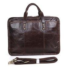 Men Messenger Bags Men's Genuine Leather Briefcase 15 Inch Laptop Handbag Real Pc Shoulder Bag Cow Business Large Case