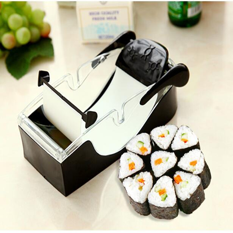 DIY Sushi And Rice Balls Mould Set Easy Operation Sushi Rolling Mould Machine Rice Balls Maker For Kitchen Tool fruit vegetable grinder kitchen tools gadgets sushi maker tools wrap food machine sushi maker cabbage leaf rolling tool