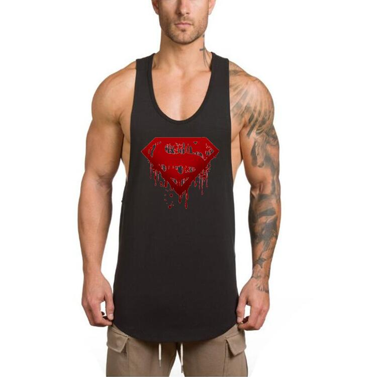 Brand clothing Bodybuilding stringer tank top mens 3d printed superman gyms clothes fitness men singlet muscle sleeveless shirt