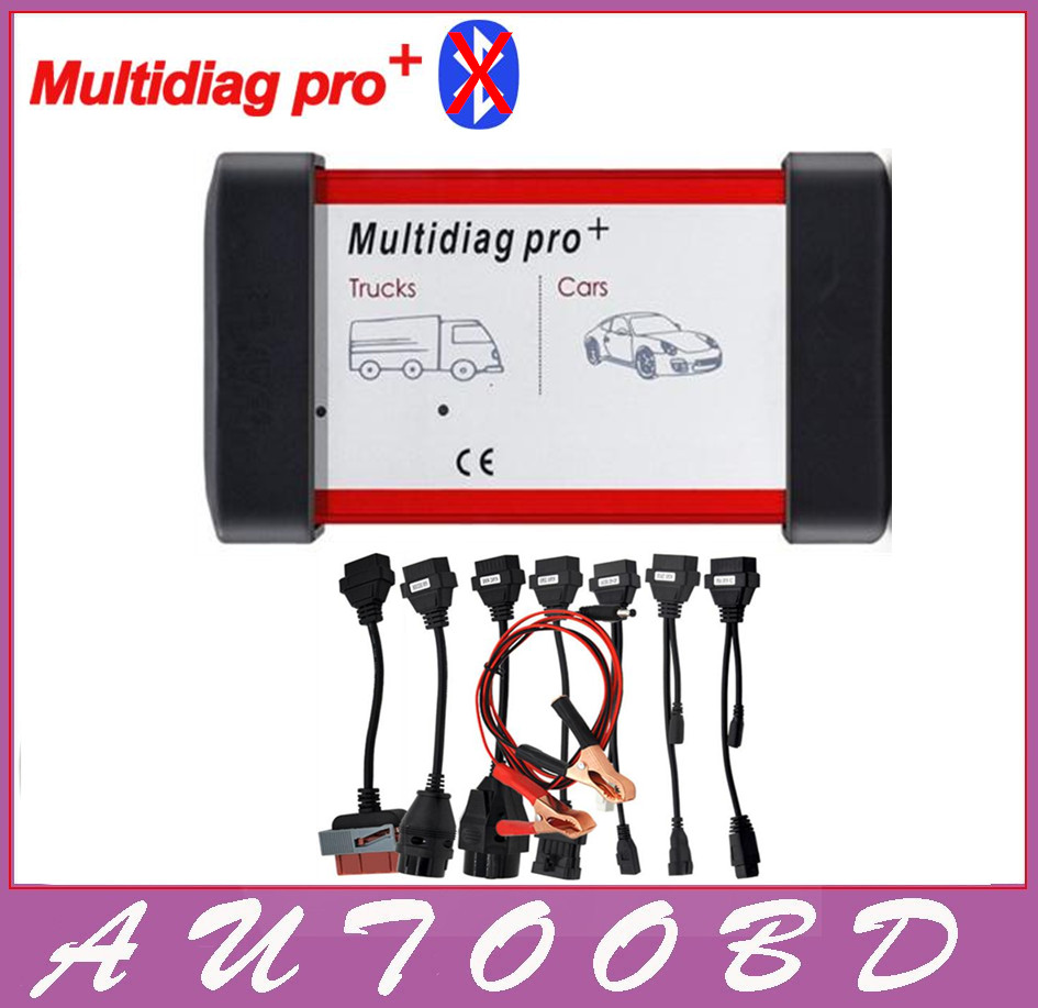 ФОТО Freeshipping 2014 R2 /2015.R1 Multidiag Pro CDP pro VCI TCS No bluetooth cartoon box For Multi-Cars and Trucks + 8pcs Car cables