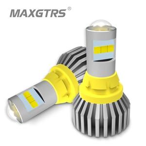 Image 1 - 2x T15 LED 1156 BA15S 7440 W21W 3030 لمبة W16W Led عكس ضوء المصباح في Canbus 921 912 سيارات احتياطية بدوره مصباح إشارة مصباح
