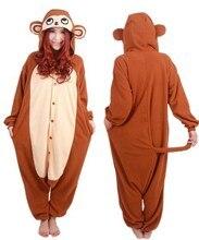 Nieuwe collectie volwassen unisex aap jumpsuit animal onesie cosplay pyjama  nachtkleding pyjama kostuum 98941cfd0