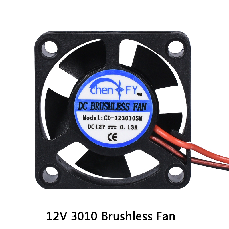 Детали для 3D-принтера 3010 вентилятор 30 мм 30x30x10 мм 12 В 5 в 24 в 2 контакта кулер постоянного тока маленький охлаждающий вентилятор DIY Reprap для j-head ...