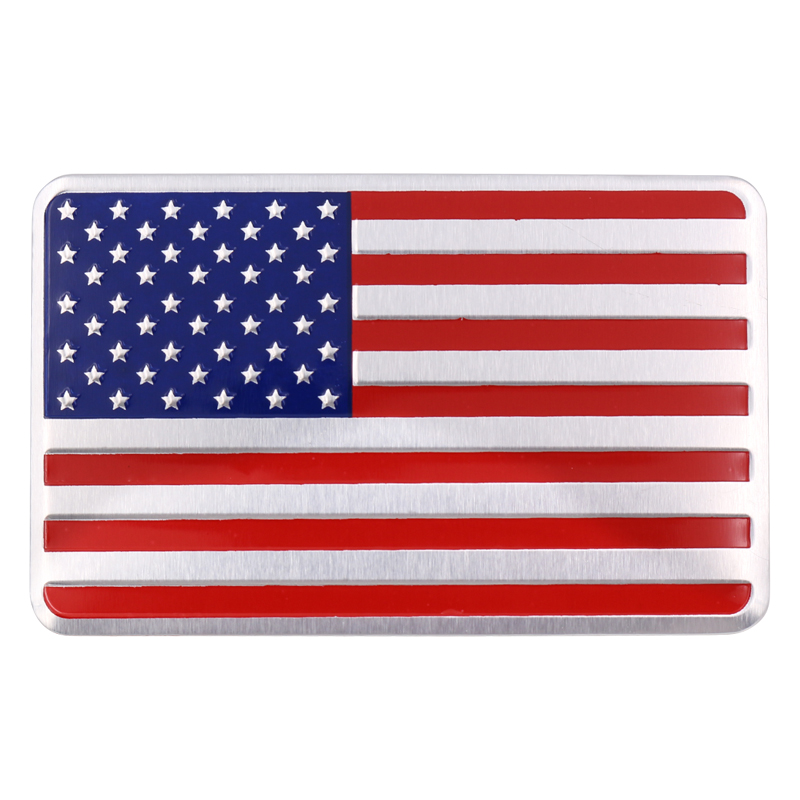 Стайлинг автомобиля 3D металлический сплав США американский флаг наклейка логотип машины Авто спортивный значок хромированные эмблемы нак...