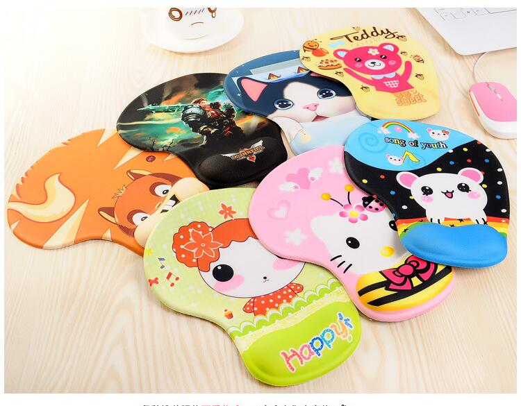 PASOCON Gel Anime Wrist Rest Mouse Pad Silicone Mousepad Support Cute Cartoon Soft Mice Gaming Pad Rubber Sexy Alfombrilla raton