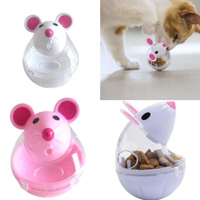 Pet cat dog Automatic Feeders tumbler automatic leaking device cartoon mouse shape toy pet supplies Cat