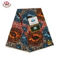2017 Ankara African Polyester Wax Prints Fabric Super Hollandais Wax High Quality 6 Yards African Fabric