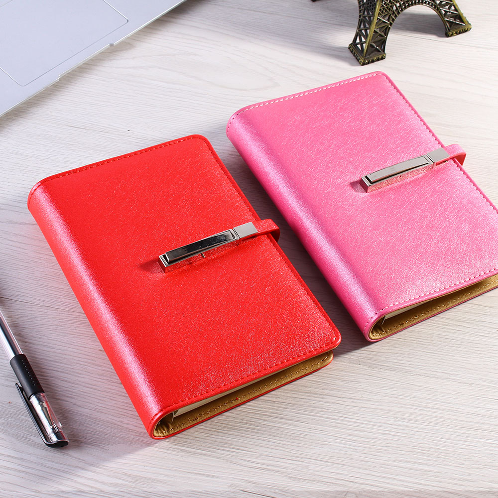Hot Spiral Leather notebook notepad paper A5 A6 80 sheets Business diary Note book Office School Supplies Gift saturday a5 business notebook notepad office book color leather cover wholesale custom 1 pcs random color