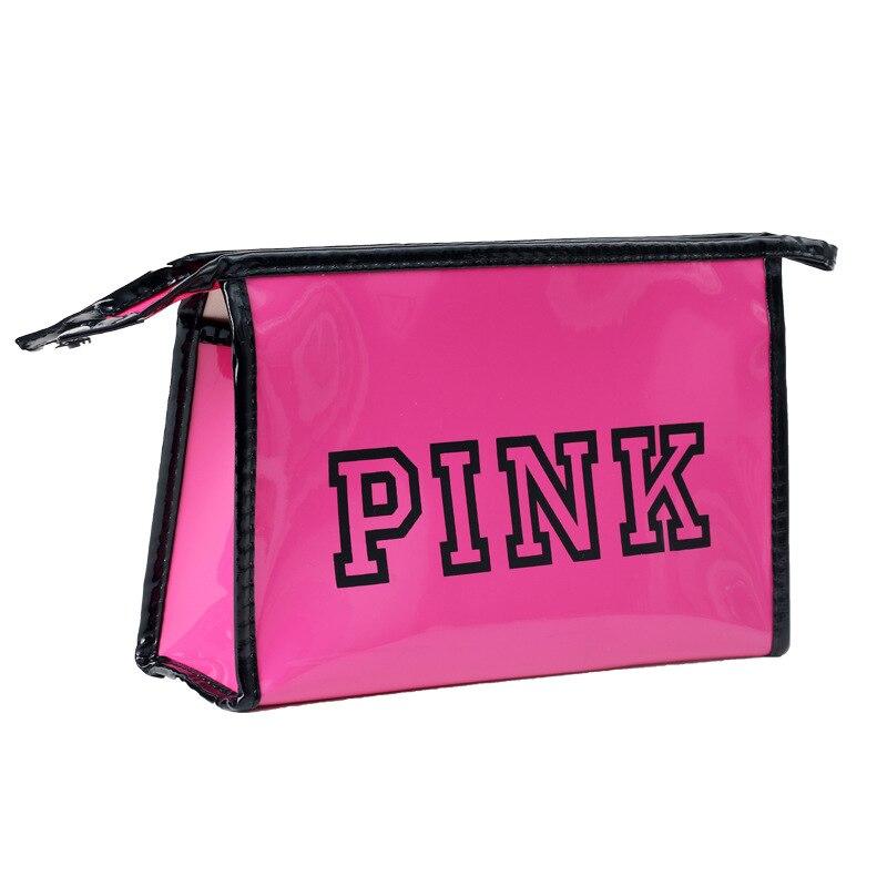 Cosmetic-Bag Beauty-Case Make-Up-Organizer PINK Waterproof Women PU