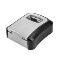 Portable Safe Box Wall Mounted 4 Password Keys Combination Lock Metal Alloy Storage Store Key Storage