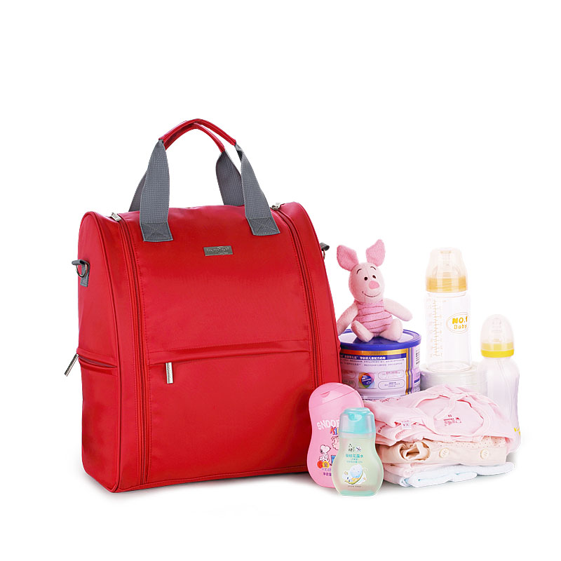 ФОТО Large Capacity Mommy Travel Baby Nappy Diaper Backpack Waterproof Multifunction Stroller Changing Pad Backpacks Bag