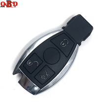 HKOBDII 3 Buttons Smart Remote Car Key NEC BGA 315/433MHz for Mercedes Benz MB with battery holder and metal blade