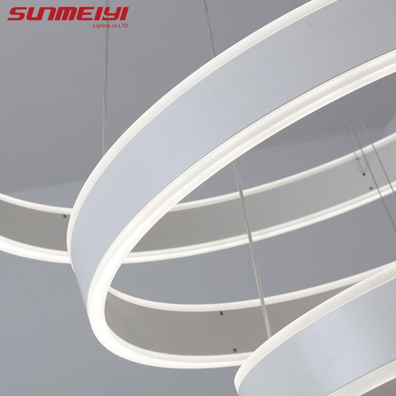 새로운 현대 3 원 링 LED 펜던트 조명 거실 식당 LED - 실내 조명 - 사진 4