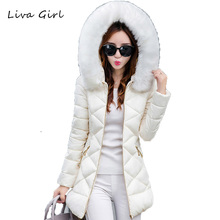 LIVA GIRL Winter Jacket Women Park Long High Quality Warm