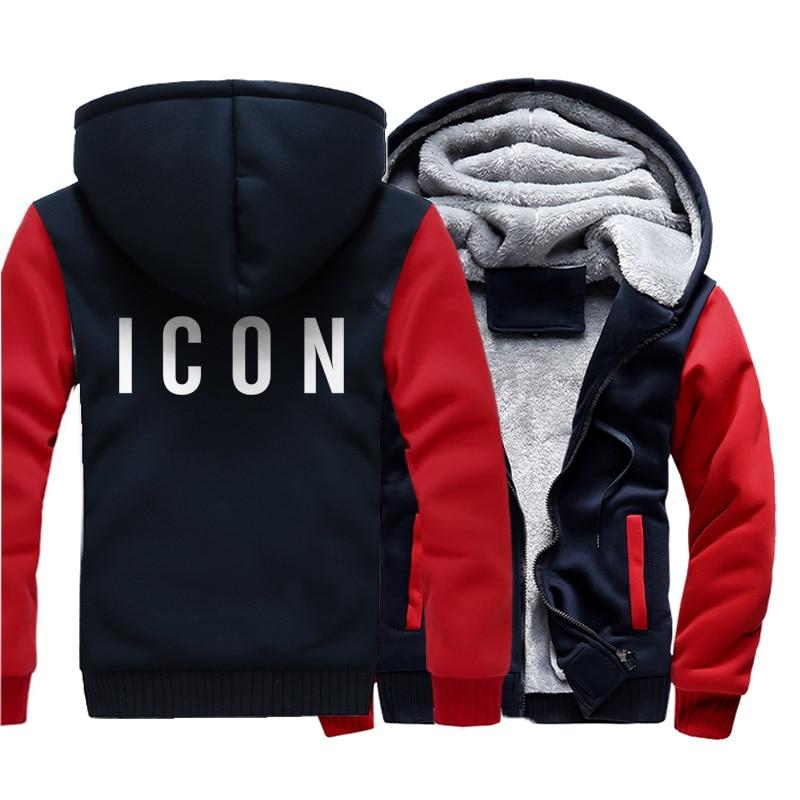 2019 Winter Hot Sale Fashion Icon Mens Hoodies Sweatshirts Warm Coat Funny Casual Jacket Hip Hop Thicken Hoodie New Men Clothing