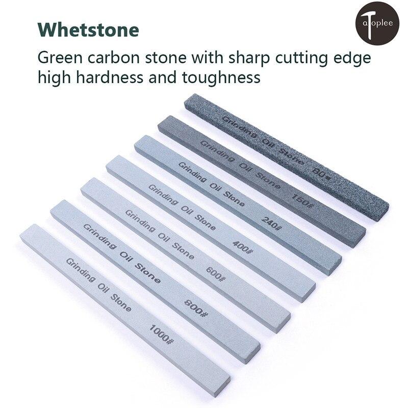 1PCS 80# 150# 240# 400# 600# 800# 1000# Grit Green Silicone Carbide Polishing Oilstone Knife Sharpener Grinding Stone