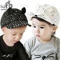 Venta al por menor 0-4 años 50 CM gorra de béisbol sombreros cabeza de gato bebé niños infantiles gorras touca gorros bebes niños primavera otoño