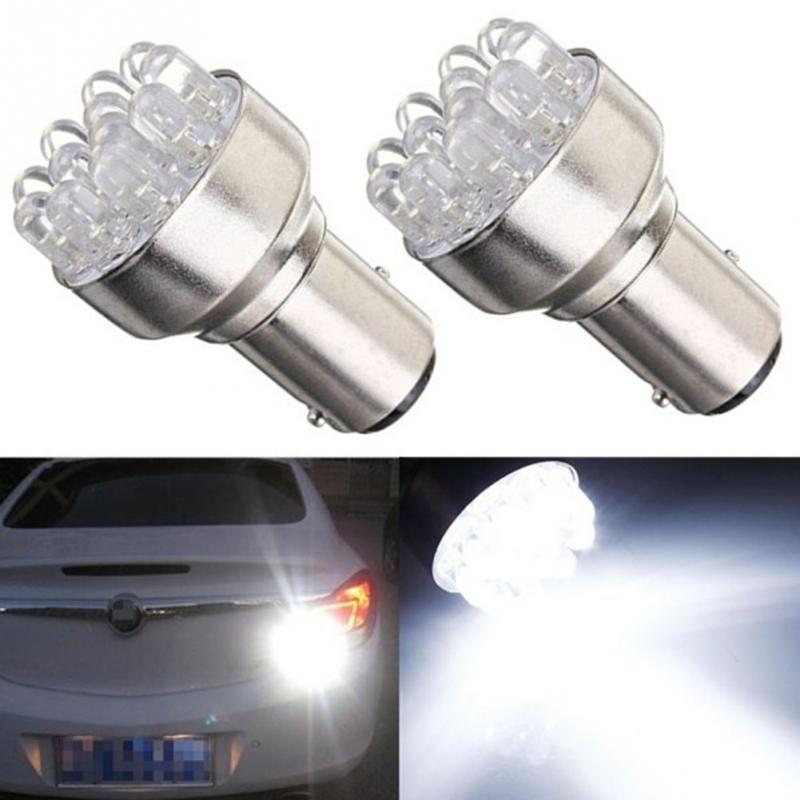 2Pcs/Set 1157 BAY 15D DC 12V White Auto 12x LED Car Light 6000-8000K Brake Turn Stop Tail Light Lamp Bulb Spotlight