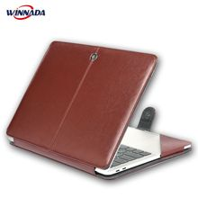 цена For macbook air 13 case, PU Leather laptop case For Apple Mac Book Air Pro Retina 11 12 13 15 inch with Touch Bar notebook bag онлайн в 2017 году