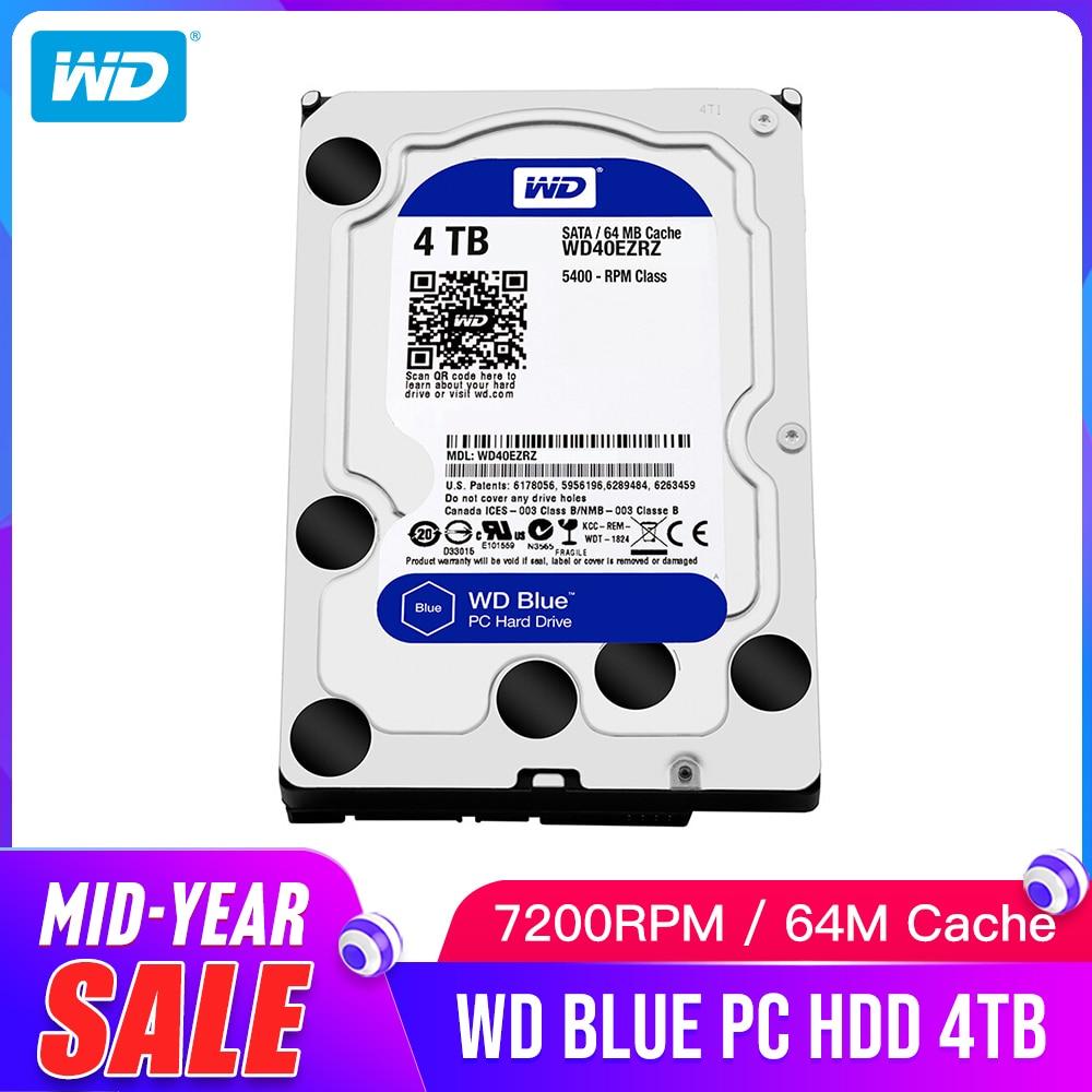 WD Western Digital Blue 4TB Hdd Sata 3 5 Internal Hard Disk disk Drive Disque Dur
